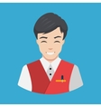 Hotel staff - Waiter Icon Flat design vector image vector image