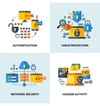 Internet security cloud technology services data vector image vector image