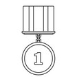 medal icon thin line vector image vector image