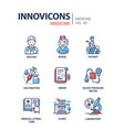 medicine - line design icons set vector image vector image
