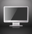 Modern lcd monitor with blank screen vector image