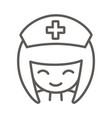 nurse icon vector image vector image