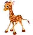 of little funny giraffe calf vector image