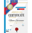 official certificate with badge red ribbon and vector image