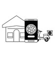 online food order and delivery black and white vector image vector image