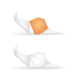 Origami snails vector image vector image