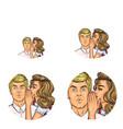pop art social network user avatars of vector image vector image
