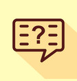 question icon isolated on white background vector image vector image
