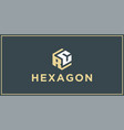 rc hexagon logo design inspiration vector image vector image
