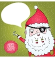 Santa Claus pirate poster vector image