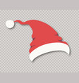 santa hat isolated on background for party vector image vector image