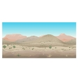 scene creative landscape wild west prairie vector image vector image