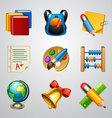School icons-set 4 vector image