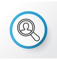 search worker icon symbol premium quality vector image