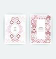 set card ethnic bohemian arabesque pattern zigzag vector image vector image