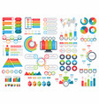 set infographic elements vector image