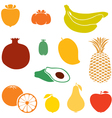 Silhouette fruits vector | Price: 1 Credit (USD $1)