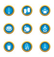 soap business icons set flat style vector image
