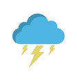 storm cloud icon in flat style isolated vector image