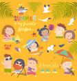 summer childs outdoor activities beach holiday vector image vector image