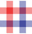 tablecloth check pixel seamless pattern vector image