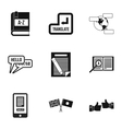 Translation icons set simple style vector image vector image
