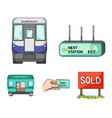 transport public train and other web icon in vector image vector image