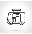Travel trailer simple line icon vector image
