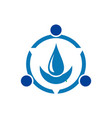 water blue concept nature logo icon vector image vector image