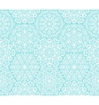 White and blue ornamental pattern vector image