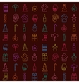 Christmas line icons pattern vector image
