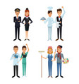 white background with full body couple male and vector image