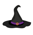 hat witch icon is a flat style isolated on white vector image