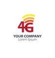 4g design logo concept network logo vector image