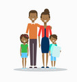 african american family happy smiling parents with vector image
