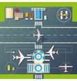 airport runways top view flat image