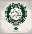 alternative line recycle sign stamp vector image