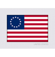 American Betsy Ross Flag 2 to 3 vector image vector image