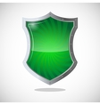 Armour shield symbol of protection defence and vector image vector image