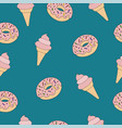 ashionable seamless pattern with sweet food ice vector image vector image