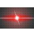 background metal and light v-shaped projection red vector image vector image