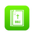 bible icon digital green vector image