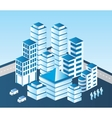 blue building vector image vector image