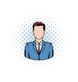 Businessman comics icon vector image