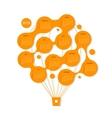 Calendar grid 2015 Air balloon for your design vector image