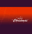 christmas greeting card text merry vector image vector image