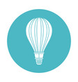 circle light blue with hot air balloon vector image vector image