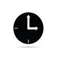 clock black vector image vector image