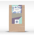 cocoa chocolate craft paper bag product label vector image vector image