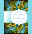 colored floral template with place for text vector image vector image